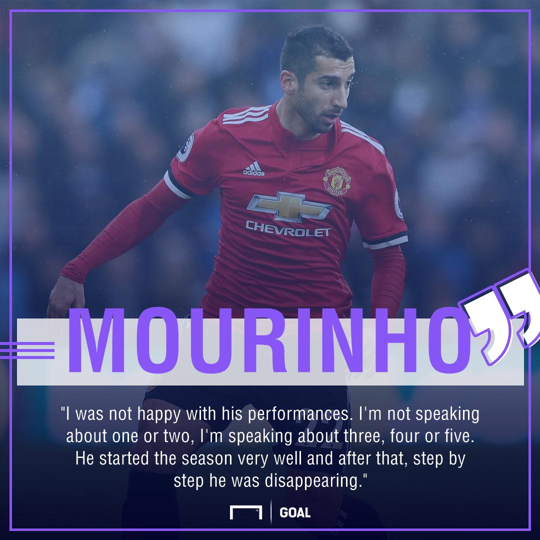 Jose Mourinho Henrikh Mkhitaryan disappearing