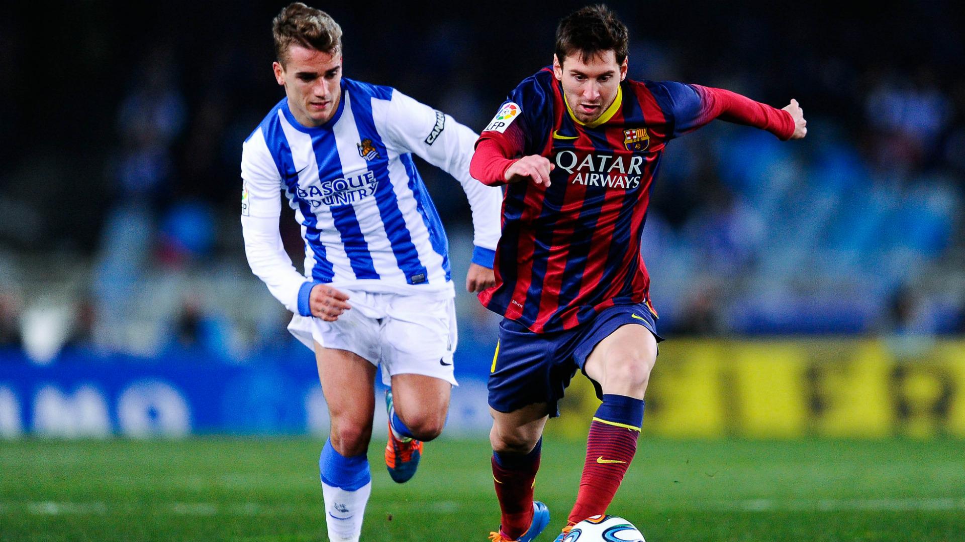 Griezmann Messi Real Sociedad Barcelona Copa del Rey 12022014