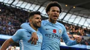 Sergio Aguero Leroy Sane Manchester City 051117