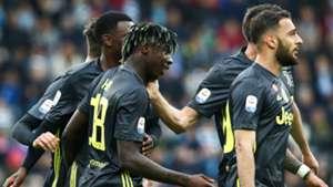 Kean celebrating SPAL Juventus Serie A