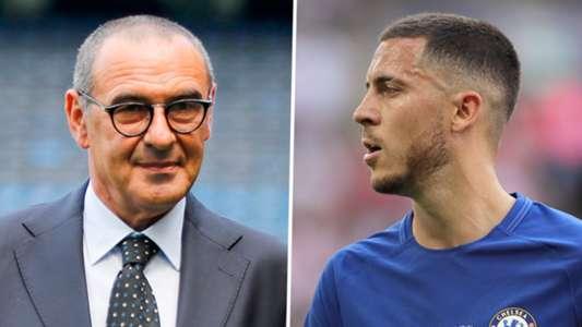 Maurizio Sarri Eden Hazard Chelsea