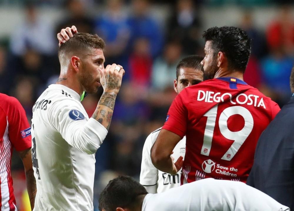 Costa Sergio Ramos Super Cup Real Madrid Atletico Madrid