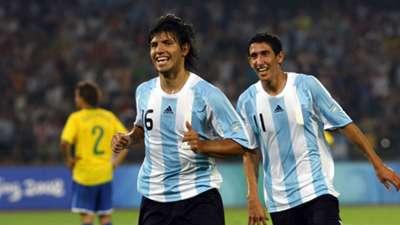 Agüero Argentina Brazil 2008 Olympics