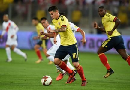 James Rodriguez Peru Colombia Eliminatorias 10102017