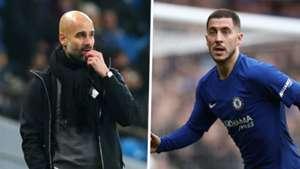 Pep Guardiola Eden Hazard split