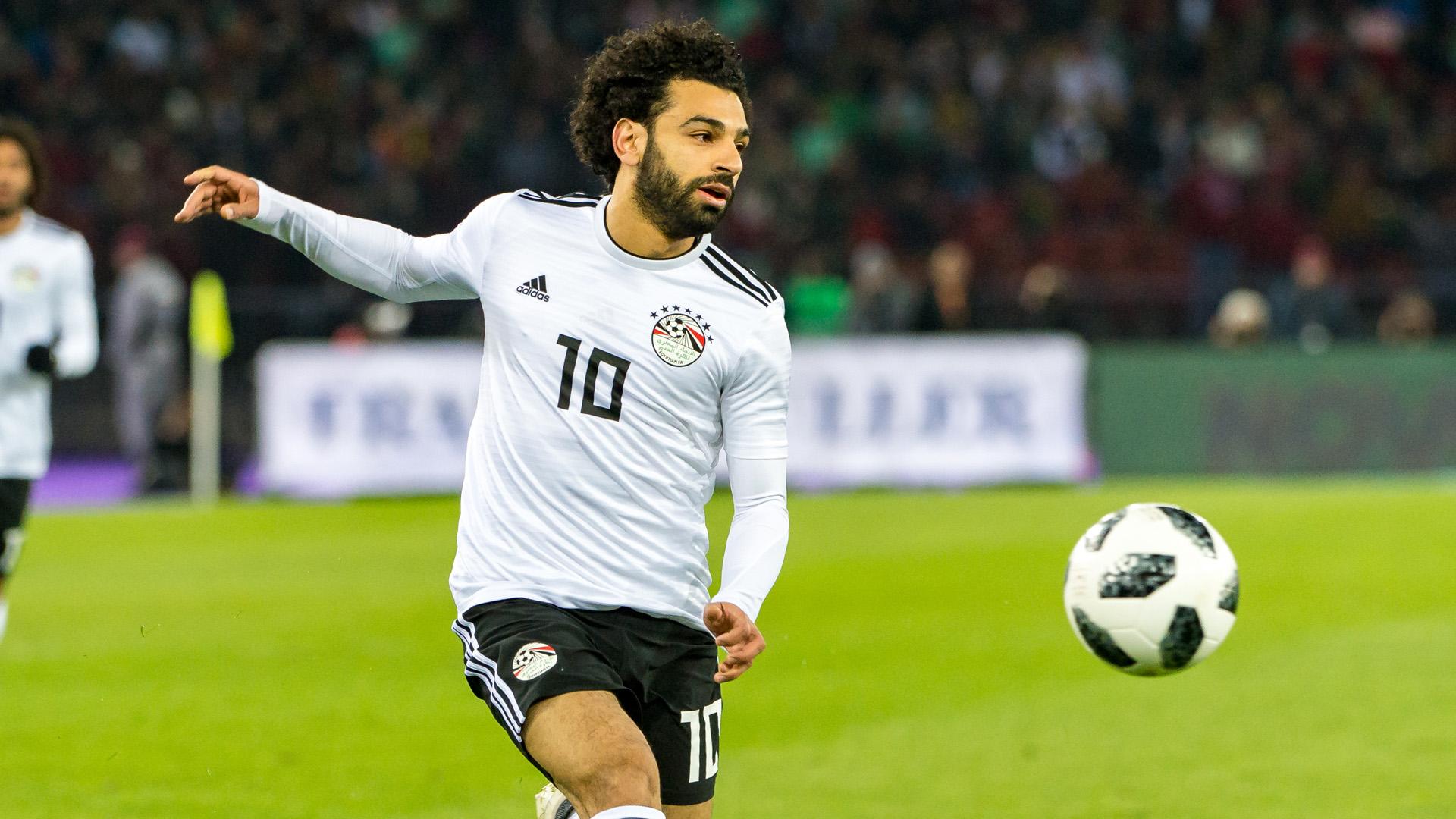 Mohamed Salah Portugal Egipto 23032018 Egipto Camiseta Alternativa Egypt Away Kit