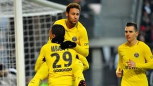 Neymar Mbappe PSG 16122017