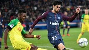 Javier Pastore Chidozie Awaziem PSG Nantes Ligue 1 18112017