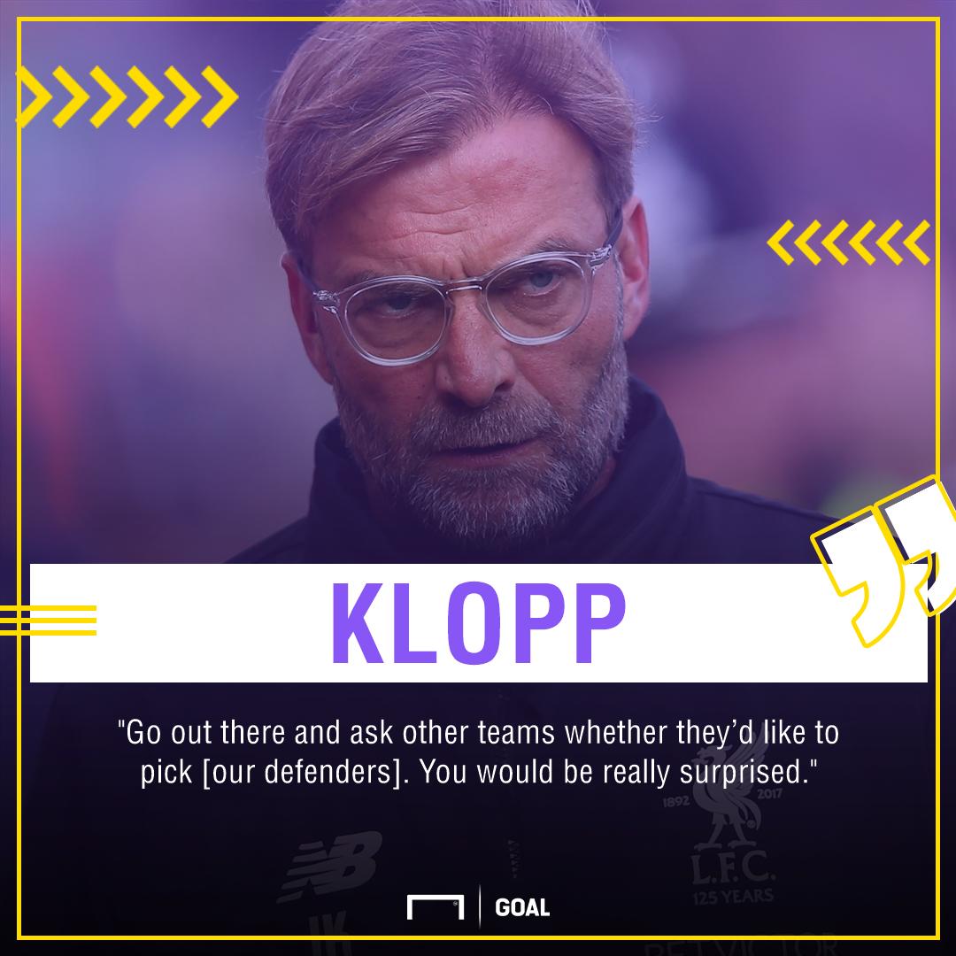 Jurgen Klopp Liverpool defenders PS