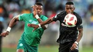 Bonginkosi Ntuli, AmaZulu FC & Innocent Maela, Orlando Pirates, November 2018