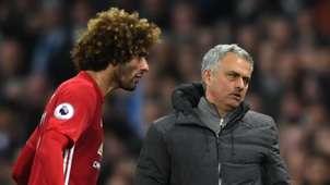 Marouane Fellaini Jose Mourinho Manchester United Premier League