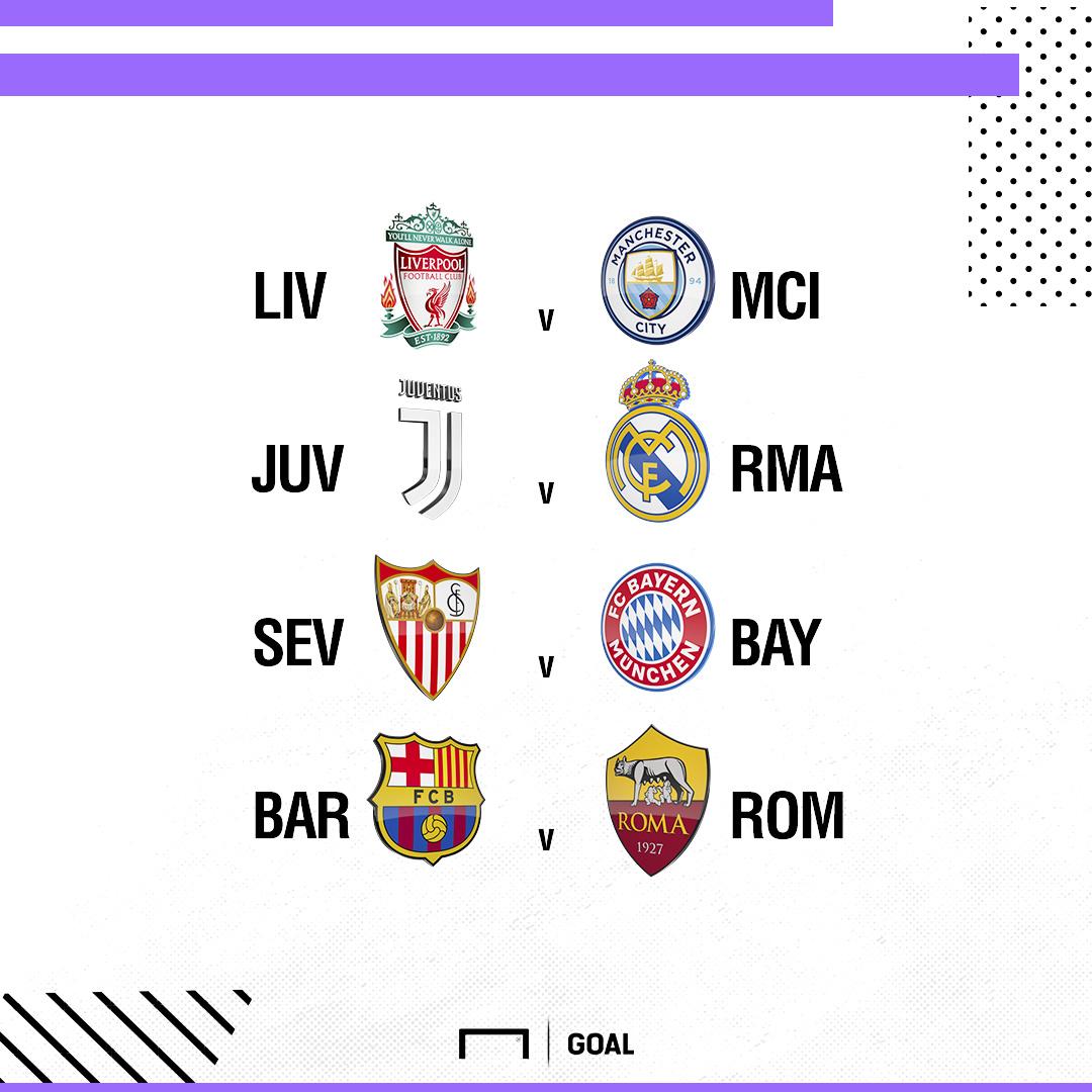 Champions League Europa League Quarter Final Draw Live Liverpool