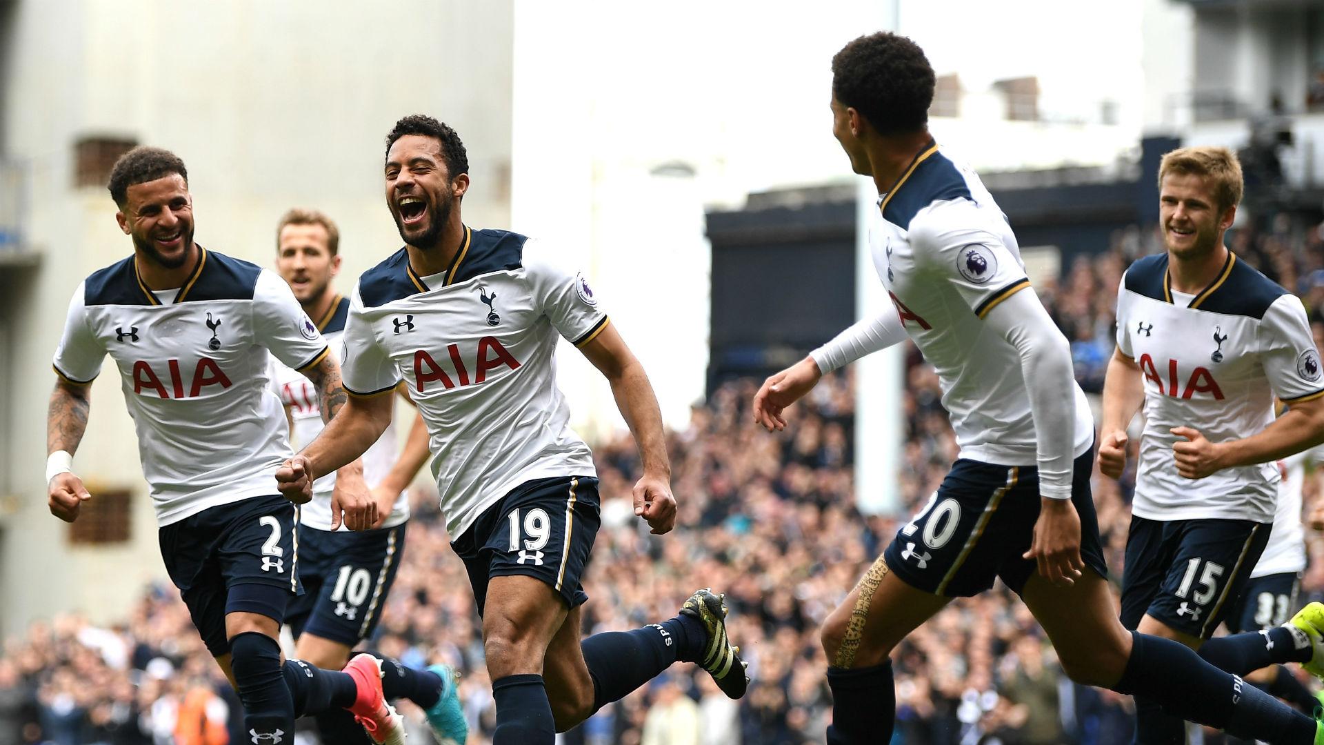 Tottenham celebrate v Bournemouth