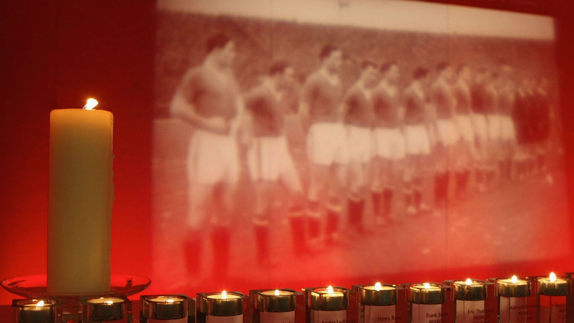 Manchester United Munich air disaster memorial 2008
