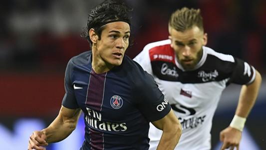 Edinson Cavani Lucas Deaux PSG Guingamp Ligue 1 09042017