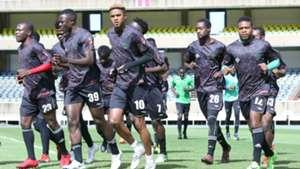 Malawi team training at kasarani to face Kenya.