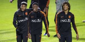 Ake Dilrosun Van Aanholt Dutch National Team training