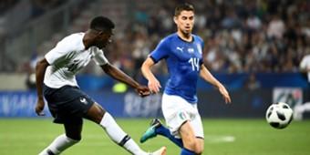Ousmane Dembele Jorginho France Italy
