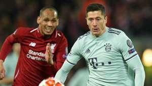Fabinho Robert Lewandowski Liverpool Bayern Munich 2018-19