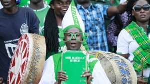 Gor Mahia fans at Kasarani v Lobi Stars of Nigeria.