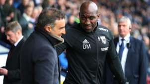 Darren Moore West Bromwich Albion Carlos Carvalhal Swansea City