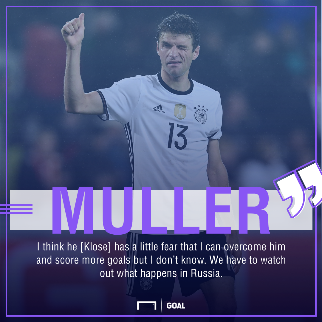 Thomas Muller Miroslav Klose Germany World Cup goals