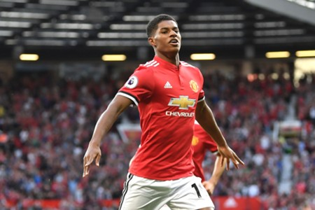 Marcus Rashford Manchester United Leicester City Premier League