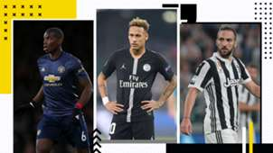 GFX Teuerste Transfers Pogba Neymar Higuain