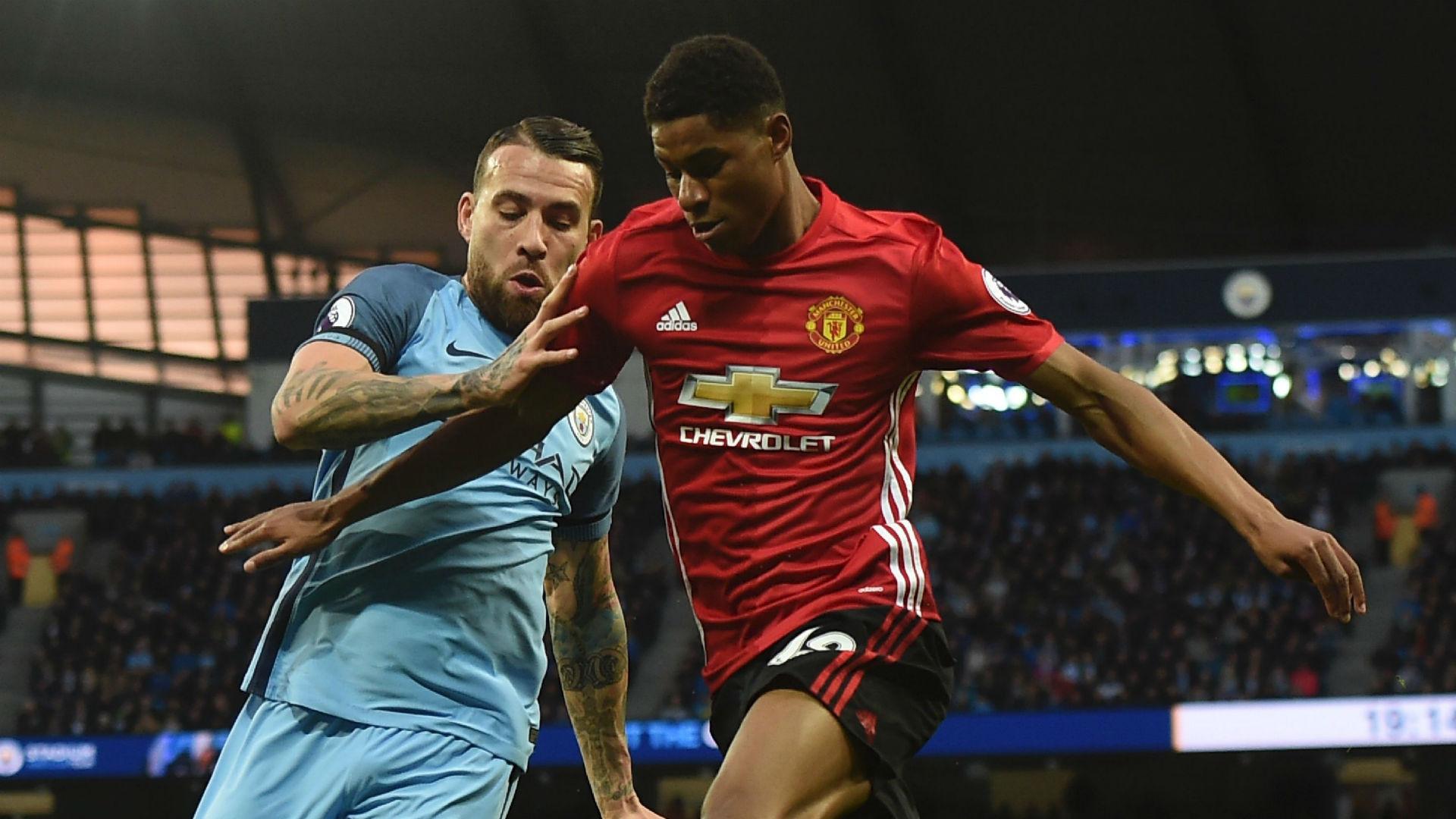 Nicolas Otamendi Manchester City Marcus Rashford Manchester United