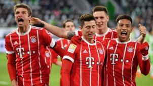 VfL Wolfsburg FC Bayern THomas Müller Robert Lewandowski Corentin Tolisso
