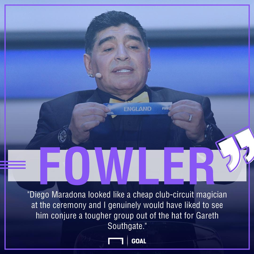 Robbie Fowler Diego Maradona England World Cup draw