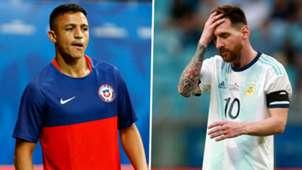 Alexis Sanchez Lionel Messi Chile Argentina