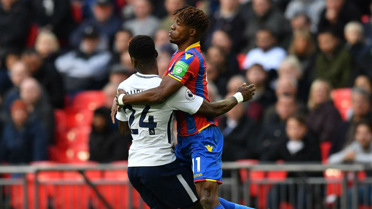 Serge Aurier and Wilfried Zaha