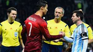 Cristiano Ronaldo Lionel Messi Portugal Argentina Friendly Match
