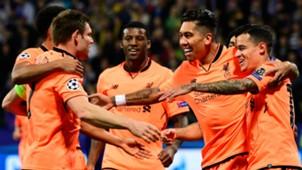 Liverpool celebrate v Maribor