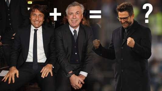 Conte Ancelotti equals Di Francesco?