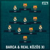 Barcelona Real Madrid combined XI without names
