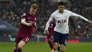 Kevin De Bruyne Dele Alli Tottenham Manchester City Premier League