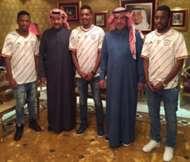 Khaled Kaabi, Fahad Ghazi and Mohammad Al Qarni - Al Shabab, Saudi Arabia
