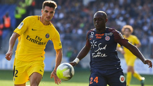 Thomas Meunier Jerome Roussillon Montpellier PSG Ligue 1 23092017
