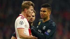 Matthijs de Ligt Casemiro Ajax - Real Madrid 02132019