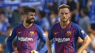 Gerard Pique Ivan Rakitic Barcelona 15092018