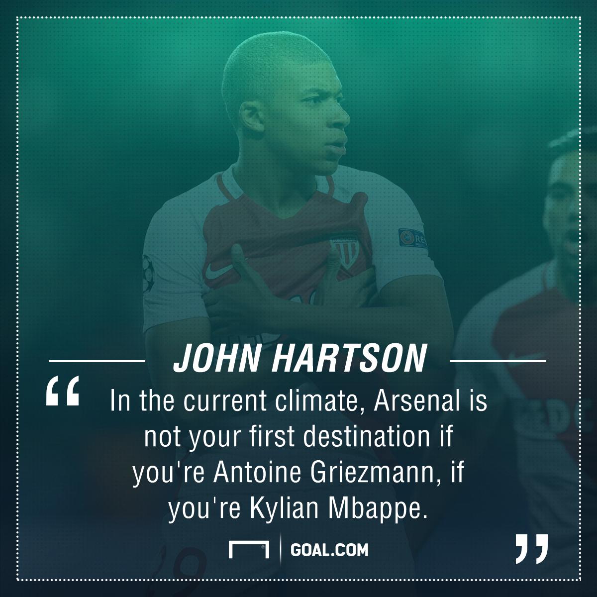 John Hartson Arsenal Griezmann Mbappe