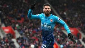 Olivier Giroud, Southampton vs Arsenal, 17/18