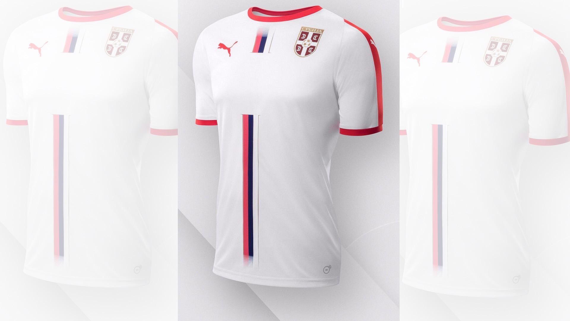 Serbia Camiseta Alternativa Away Kit 2018