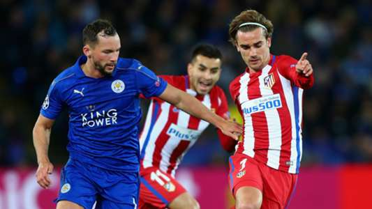 Danny Drinkwater Antoine Griezmann Leicester City Atletico Madrid