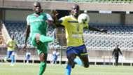 Joash Onyango of Gor Mahia v Fred Nyarombo of Western Stima.
