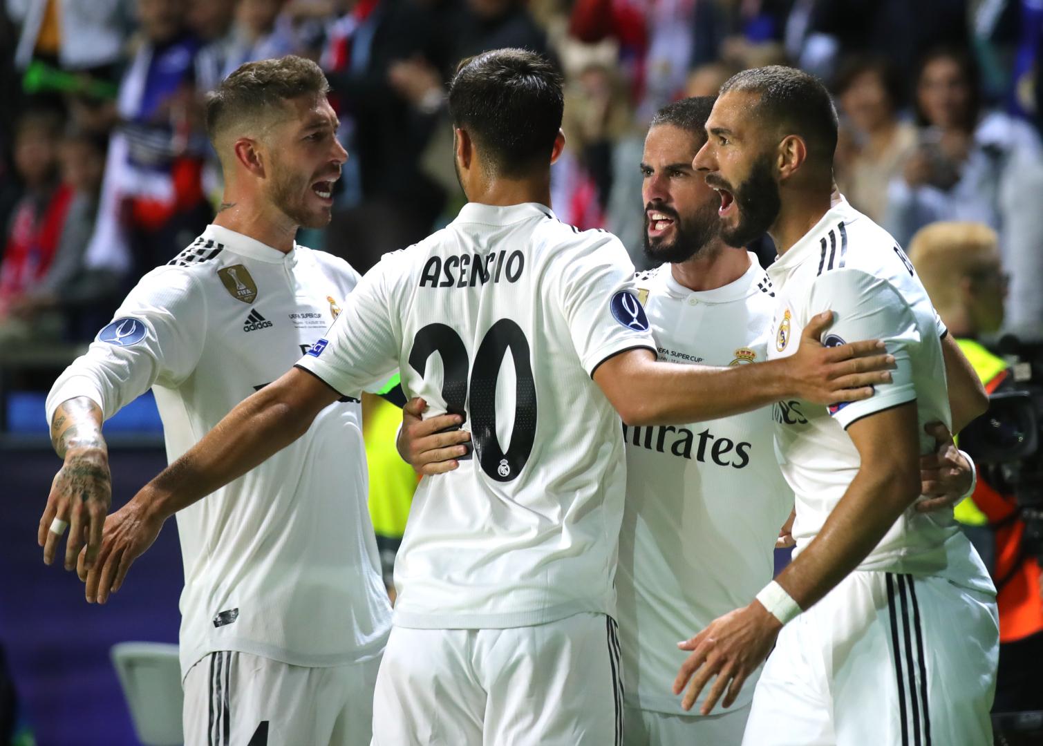 Benzema goal Real Madrid Atletico Madrid 15/08/2018