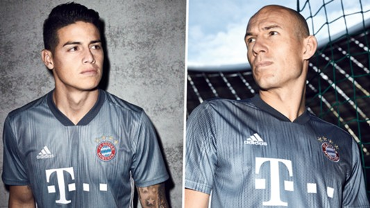 James Rodriguez Arjen Robben Bayern Third Kit 2018-19