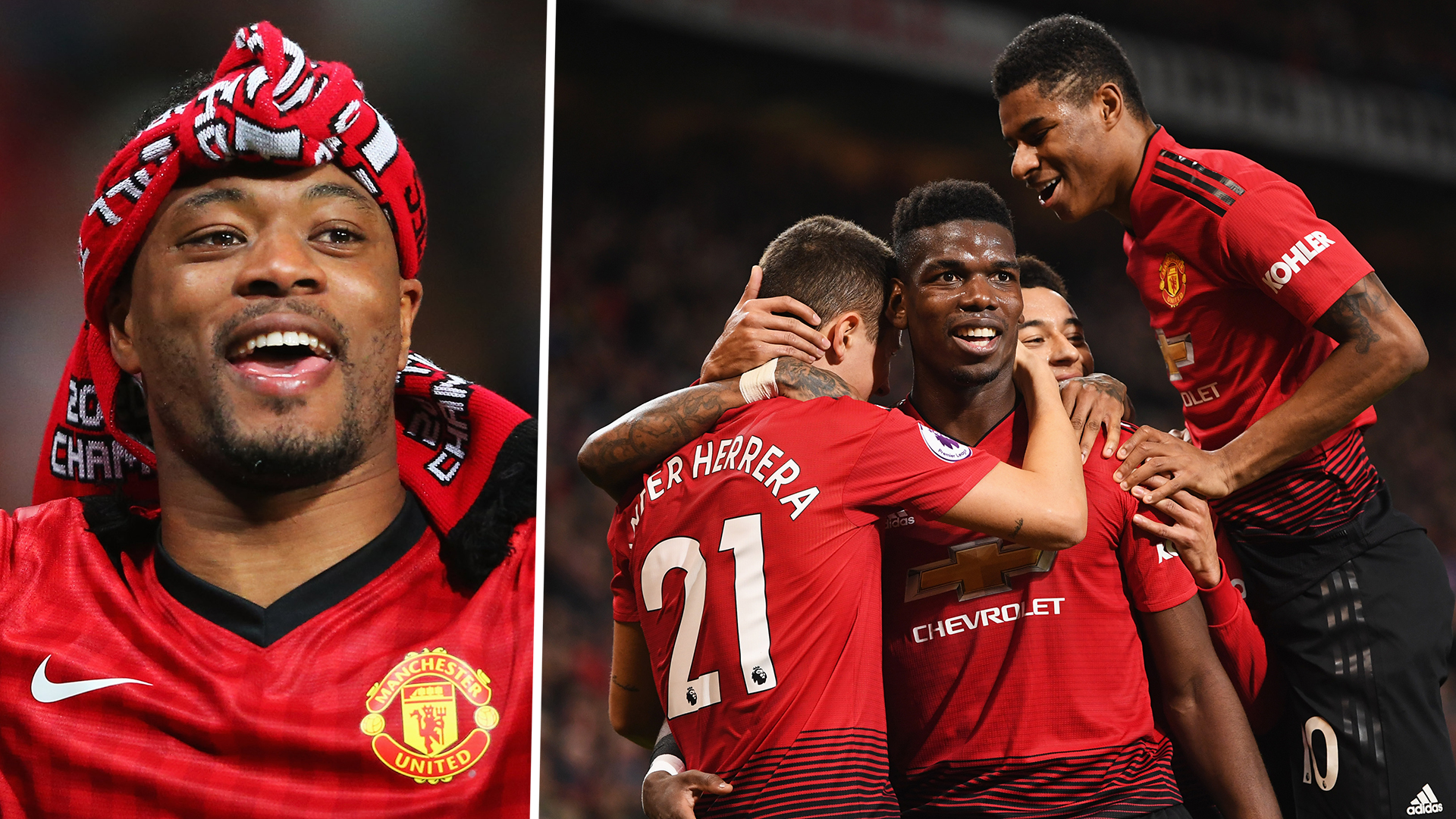 Patrice Evra Man Utd Celebrating